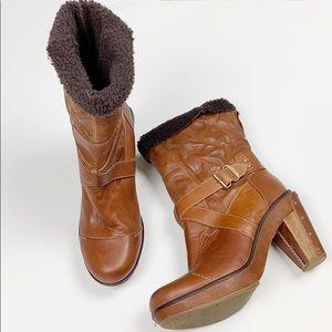 Timberland Boot Company Cognac Platform Boot